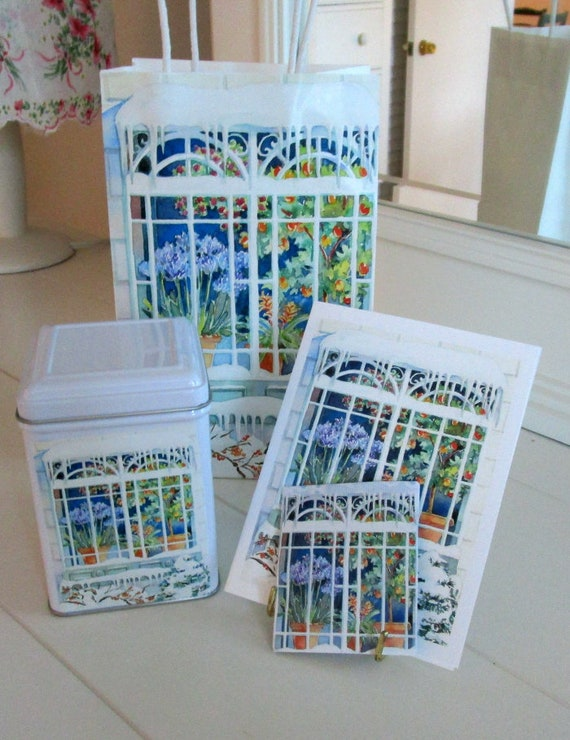 Windows for All Seasons Gift Bag Set