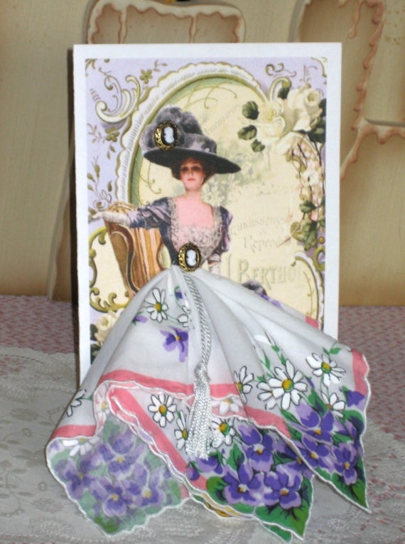 Victorian Elegance Keepsake Hanky Card