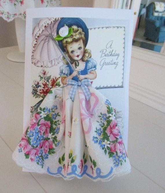 Little Lady Birthday Girl Hankie Card