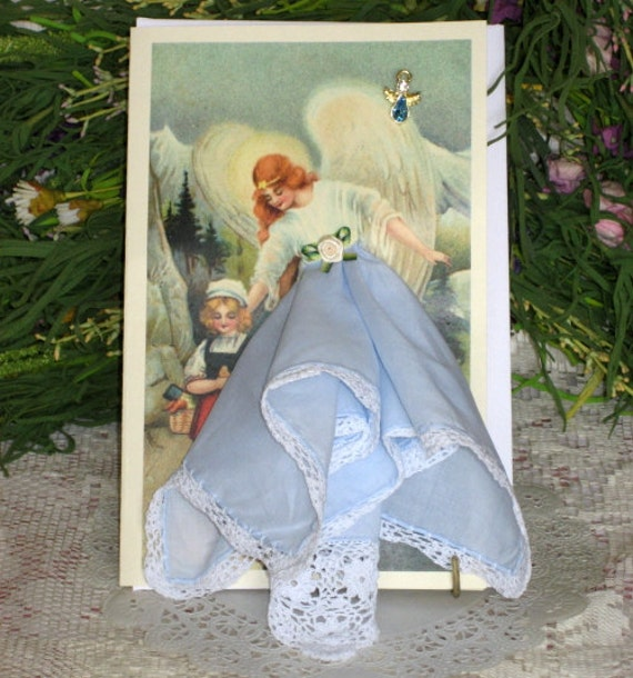 Guardian Angel Hanky Card