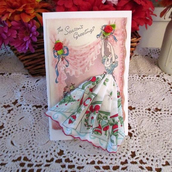 Victorian Christmas Hankie Card
