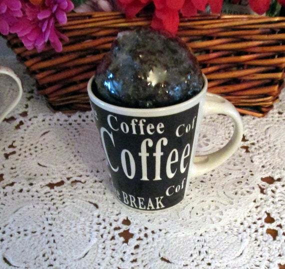 Coffee Time Mug with Chocolate Fudge Muffin Candle