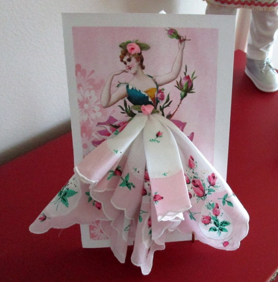Magnolia  Fairy Keepsake Hankie Card