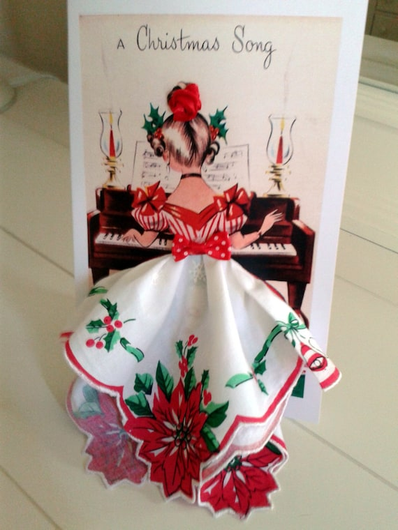 Christmas Song Keepsake Hankie Card