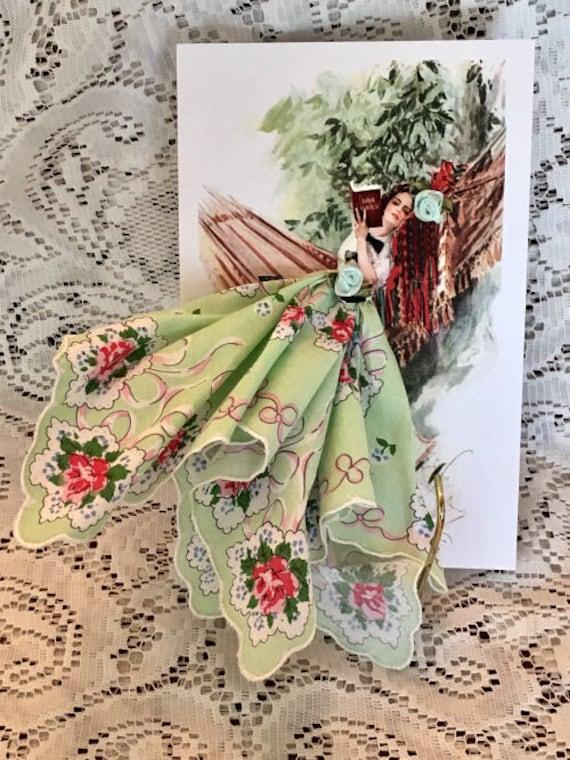 The Book Keepsake Hanky Card