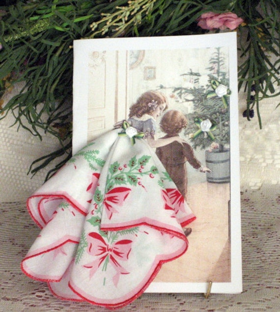 The Wonder of Christmas Keepsake Hanky Card