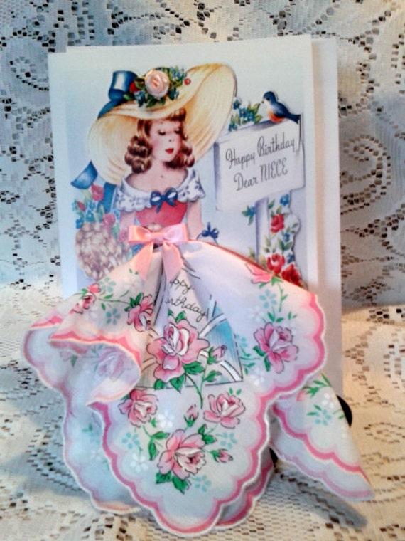Happy Birthday Niece Keepsake Hanky Card