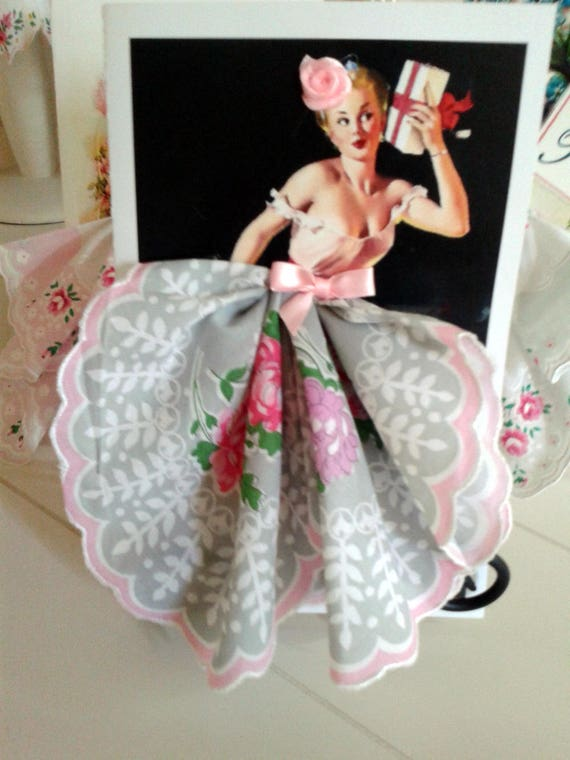 The Present Pinup Hankie Card
