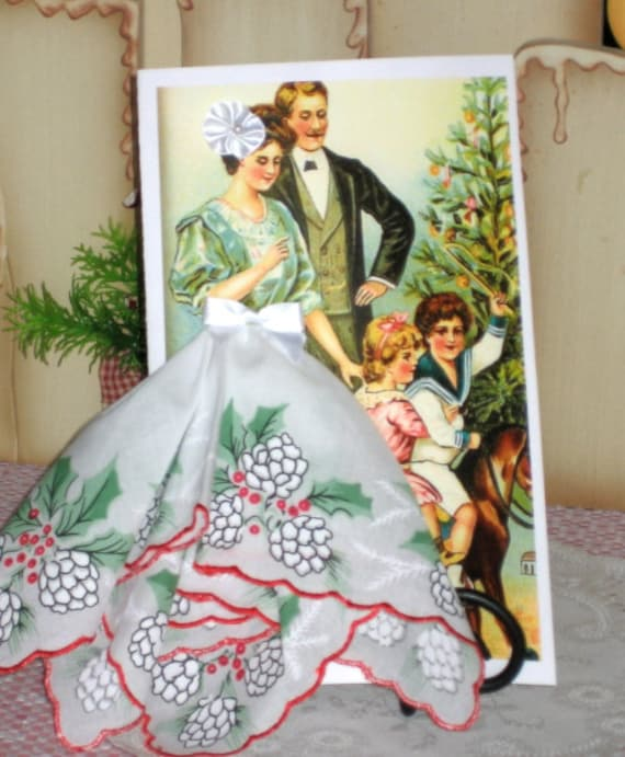 Christmas Morning Keepsake Hanky Card