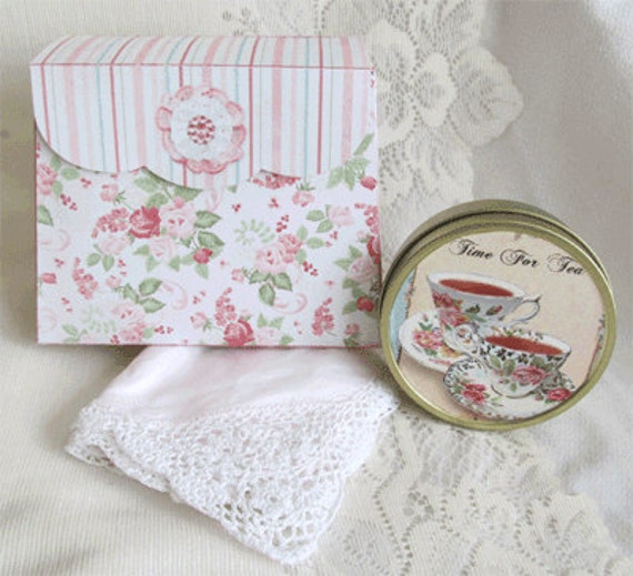 Hanky and Tea Gift Boxes