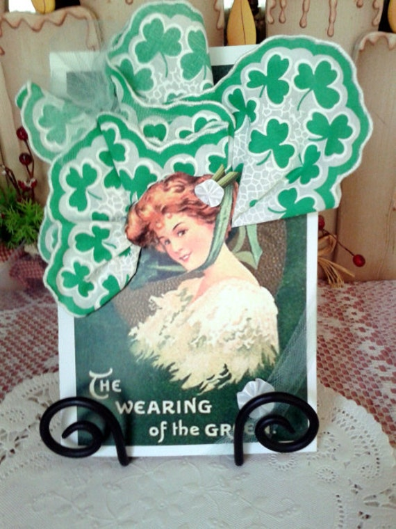 March Wearing of the Green Keepsake Hanky Card