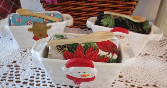 Napkin Treat Crock Gift Set