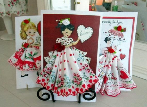 Valentine Keepsake Hankie Cards