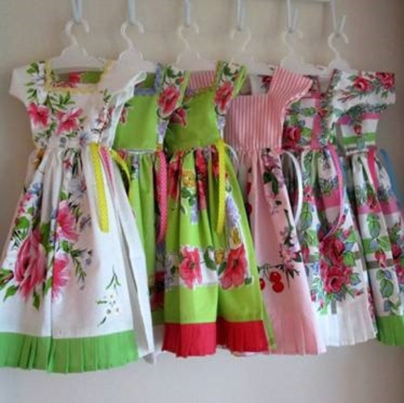 Vintage Floral Tea Towel Dresses
