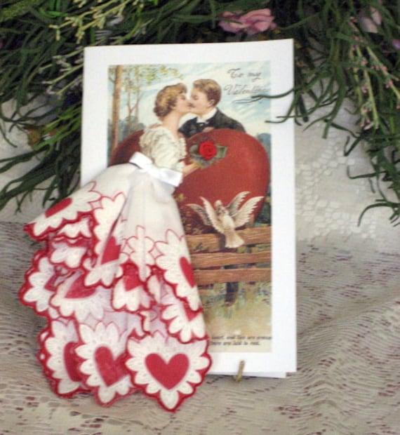 Be Mine Valentine Keepsake Hanky Card