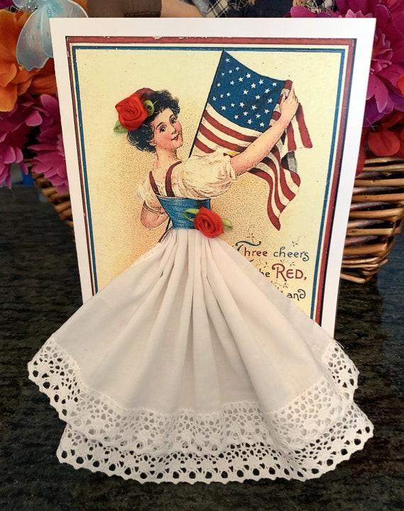 4th of July Keepsake Hankie Card
