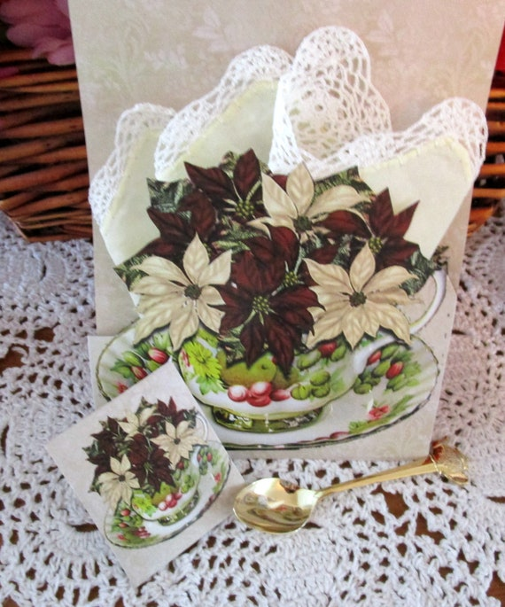 Christmas Keepsake Hankie Card