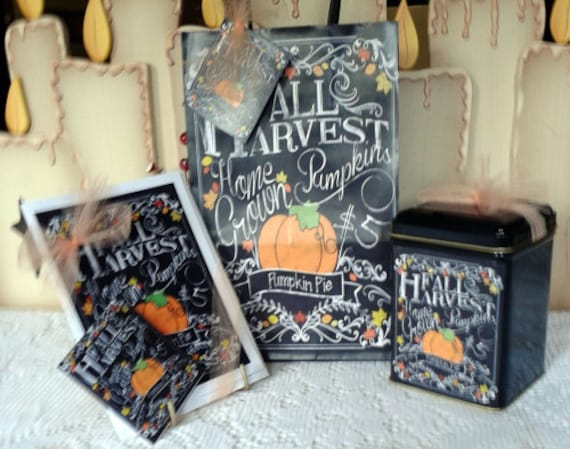 Pumpkin Harvest Gift Bag Set