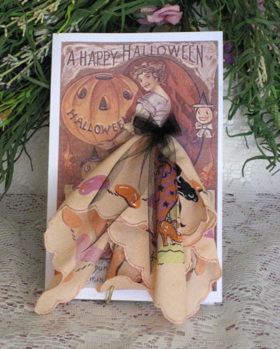 A Happy Halloween Hanky Card