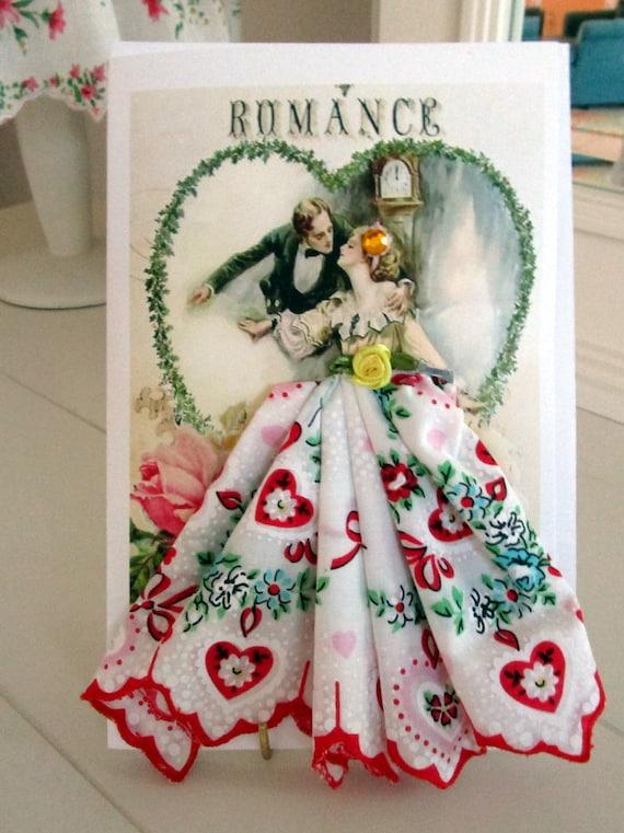 Romantic Couple Keepsake Hankie Card
