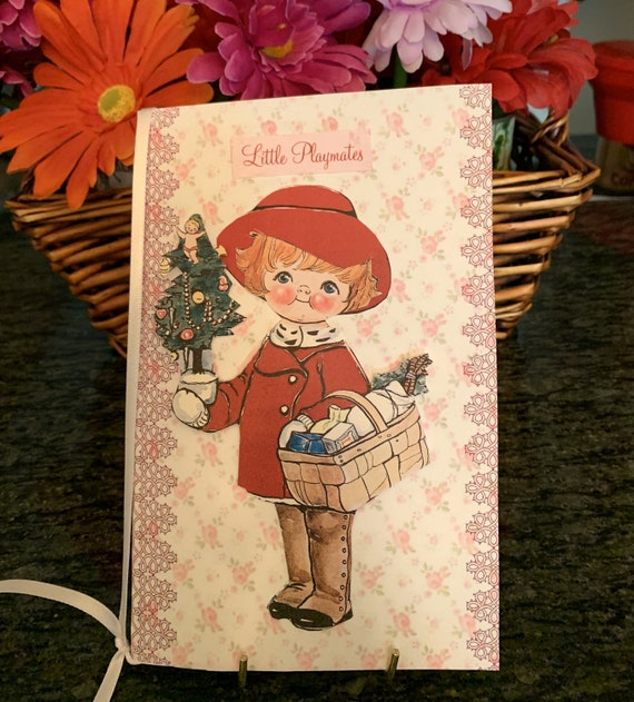 Dolly Dingle Christmas Paper Doll Greeting Card