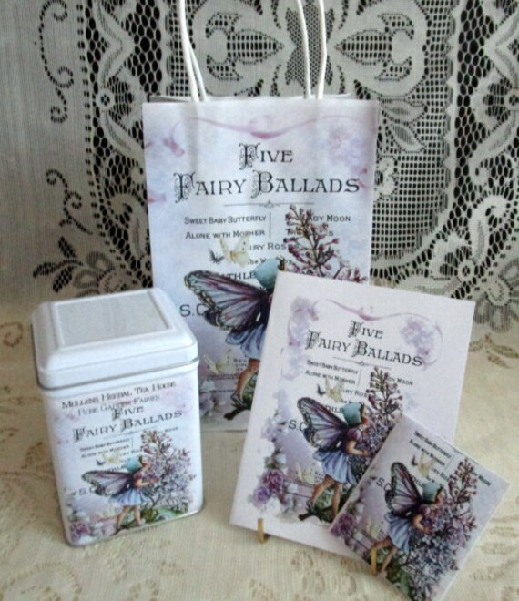 I Believe in Fairies Tea  Gift Bag Set