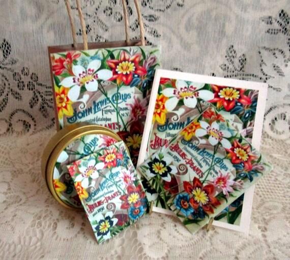 Petite Vintage Seed Packet Gift