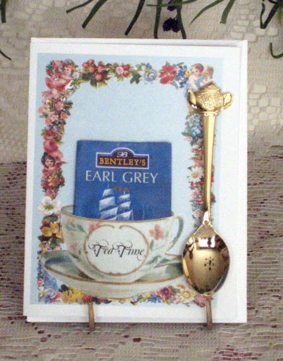 Keepsake Teaspoon Card Tea Time