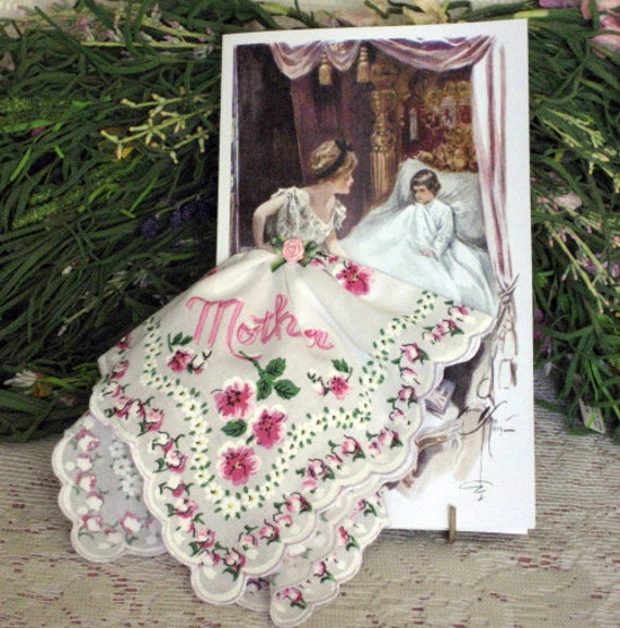 Mother and Child Hanky Card