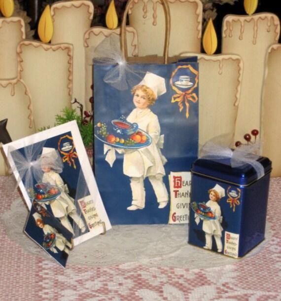 Thanksgiving Greeting Gift Bag Set