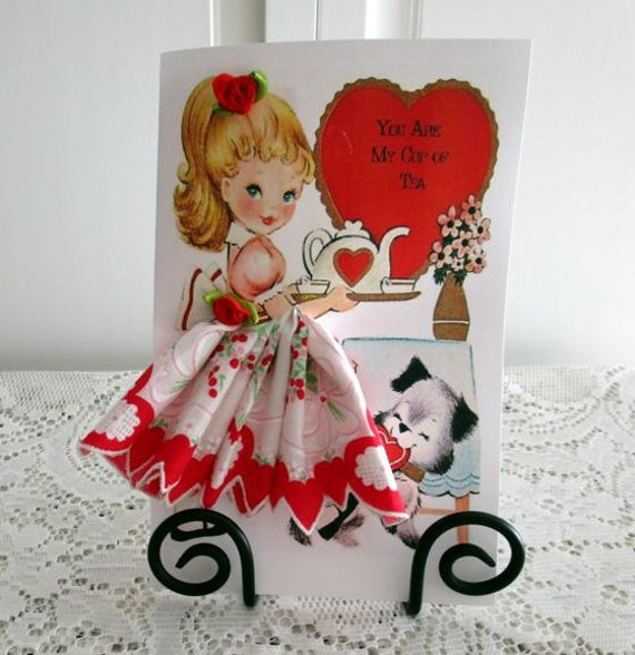 You Are My Cup of Tea Keepsake Hankie Card