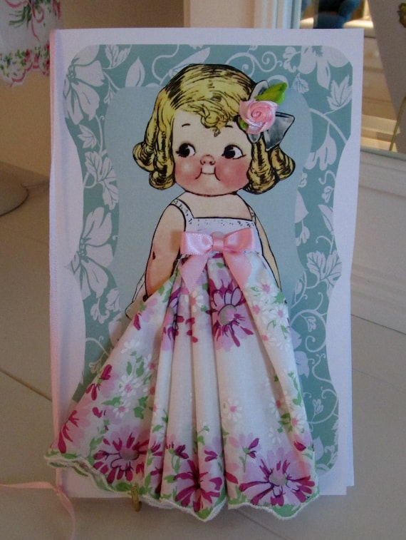 Little Lady Dolly Dingle Hanky Card