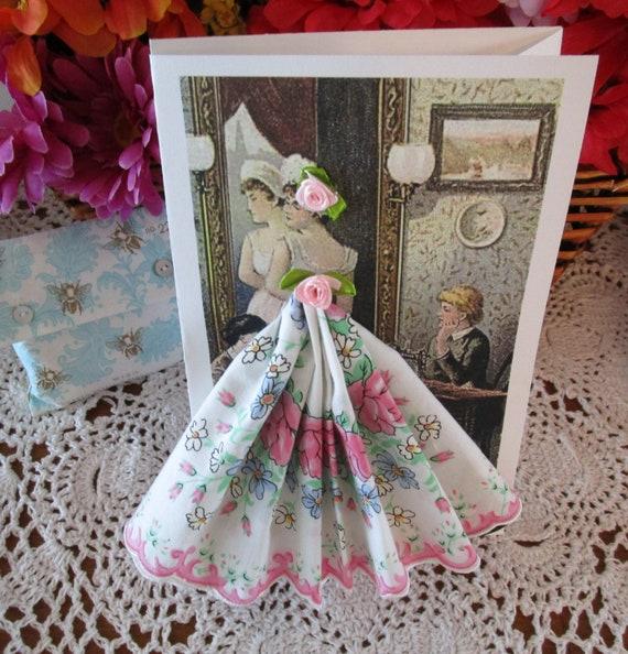 Dressmaker Keepsake Hanky Card