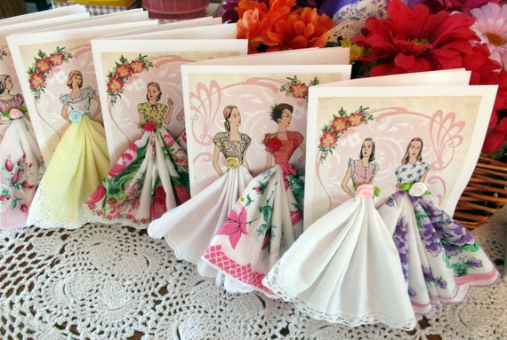Fashion Hankie Cards with Sachet