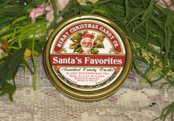 Merry Christmas Candy Company Tea Tin