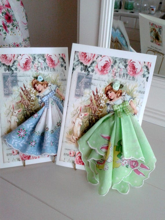 Little Lady Easter Hankie Card Card
