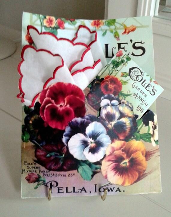 Coles Seed Packet Keepsake Hankie Card