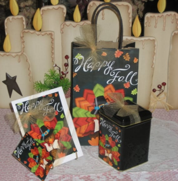 Happy Fall Turkey Gift Bag