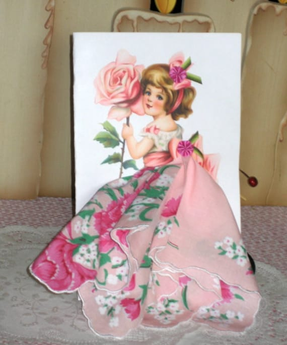 Little Lady Rose Keepsake Hanky Card