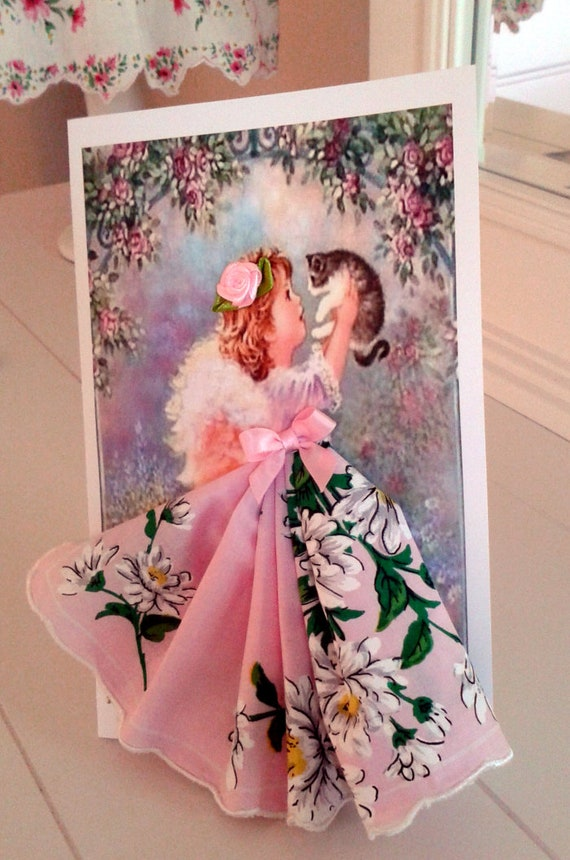 My Little Angel Keepsake Hanky Card