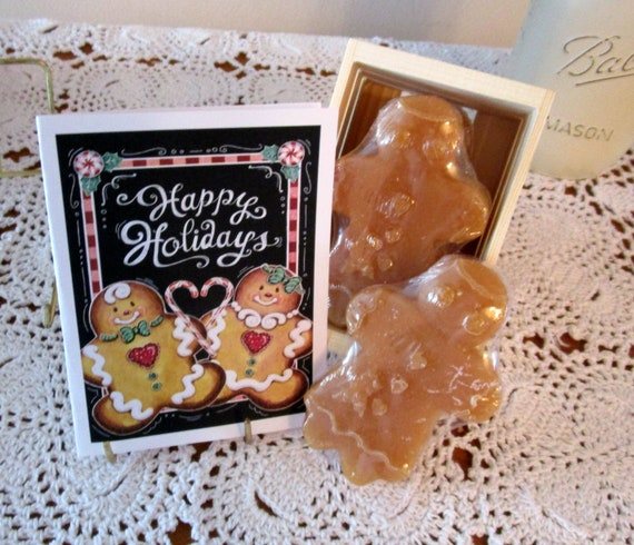 Gingerbread Kisses Fun Cards or Gift Crate