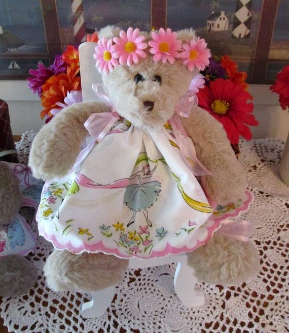 Ballerina Hankie Teddy Bear