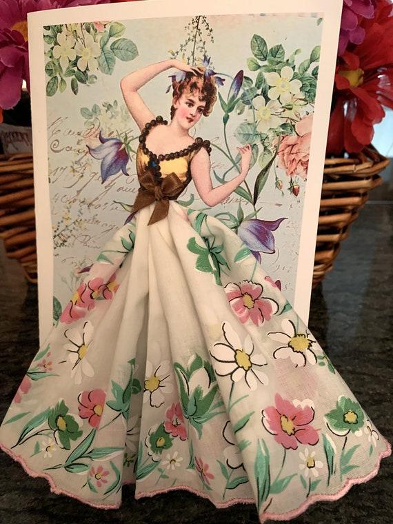 Bluebell Fairy Keepsake Hanky Card