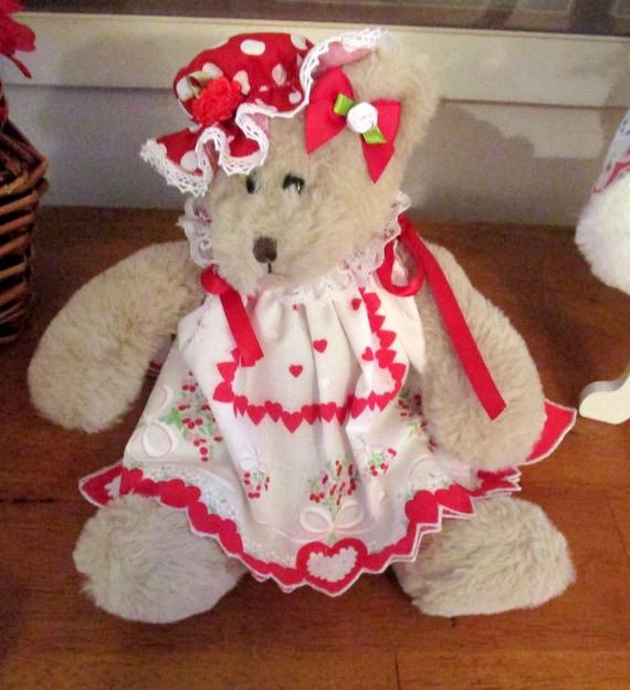 Holiday Hankie Teddy Bears