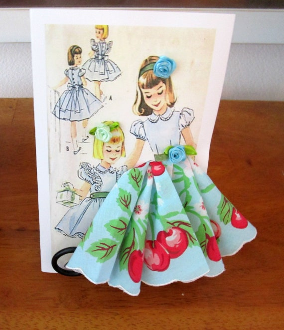 Little Lady Fashion Keepsake Hankie Card
