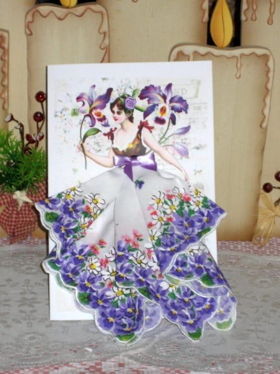 Orchid Fairy Keepsake Hanky Card