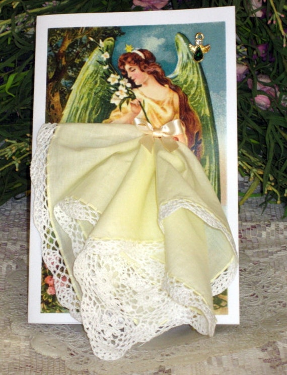 Guardian Angel Keepsake Hanky Card