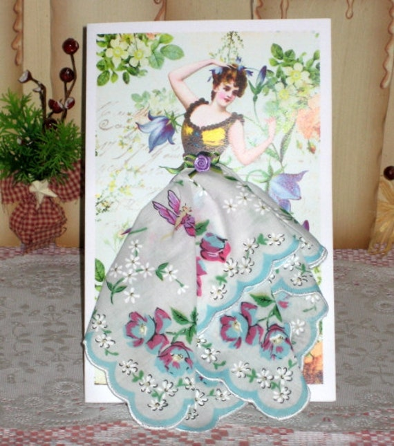 Bluebell Fairy Keepsake Hanky Card