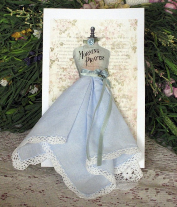 Morning Prayer Dress Form Hanky Card