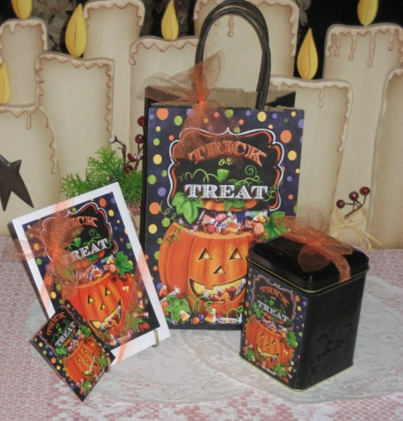 Trick or Treat Gift Bag Set